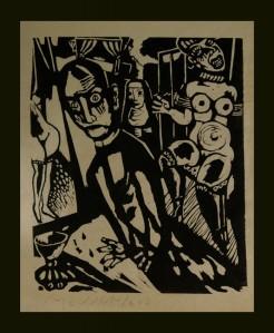 Lino, grafiek, zwart-wit contrast